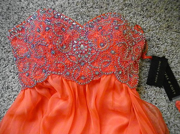 Strapless beaded formal gown - $100 (Brownsville)
