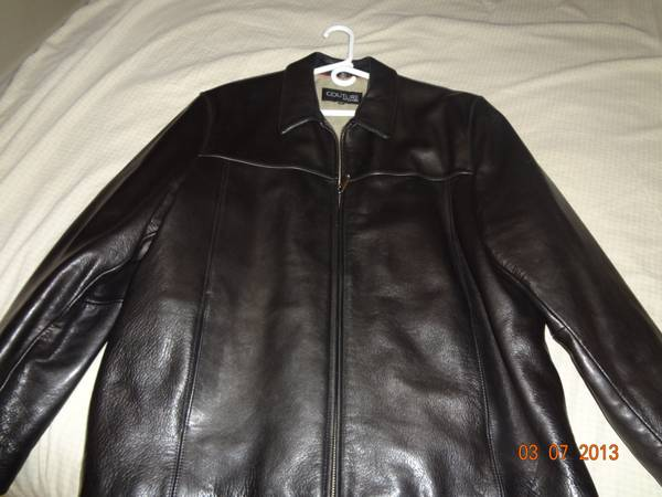 Couture by J. Park black soft leather jacket - $150 (brownsville)