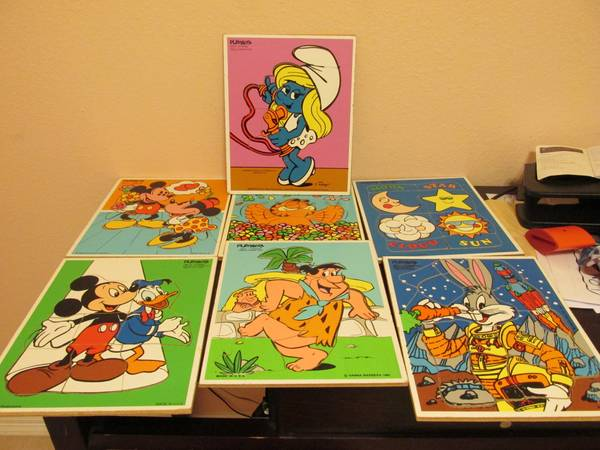 Collectible  Hard Wood PUZZLES from 50s on  -   x0024 10  brownsville