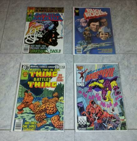 4 Vintage Comics from the 1970 s and 1980 s   10 for All 4 Together   -   x0024 10  harlingen
