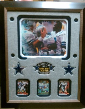 Dallas Cowboys (Triplets) 8x10 custom frame - $120 (BROWNSVILLE)