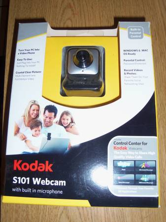 NEW KODAK S101 WEBCAM with BUILT IN MICROPHONE - $15 (SAN BENITO)