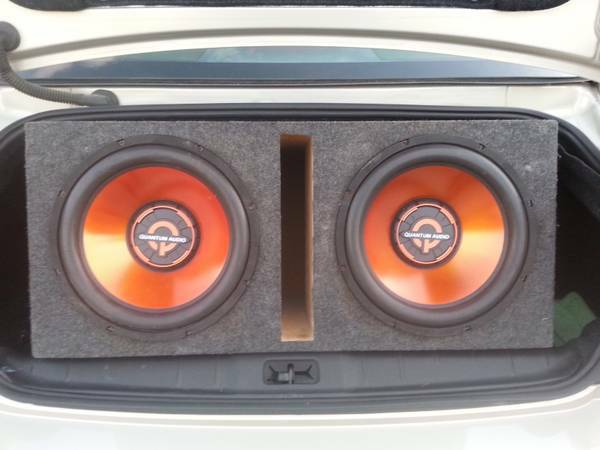sell or trade my 2 12s Quantum subs - $150 (brownsville)