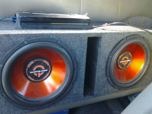 two 12s Quantum Audio Speakers with 700watt InterFire Amp - $150 (san benito)