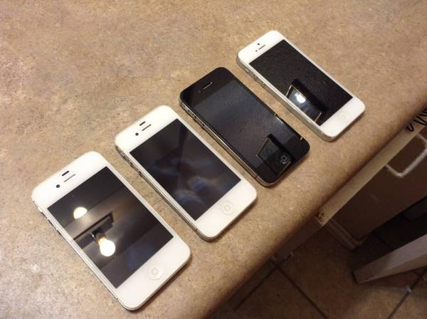 ORIGINAL FOR CRICKET 3 IPHONES 4S 16GB AND ONE IPHONE 5 16GB