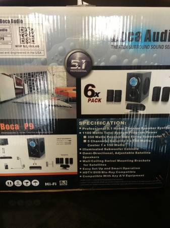 Boca audio p9 professional home theatre speaker system - $500 (Brownsville)