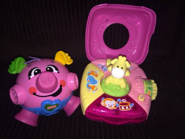 VTECH JUNGLE FUN MUSIC BOX  amp  FISHER PRICE PIG BOUNCE  amp  GIGGLE BALL  Brownsville