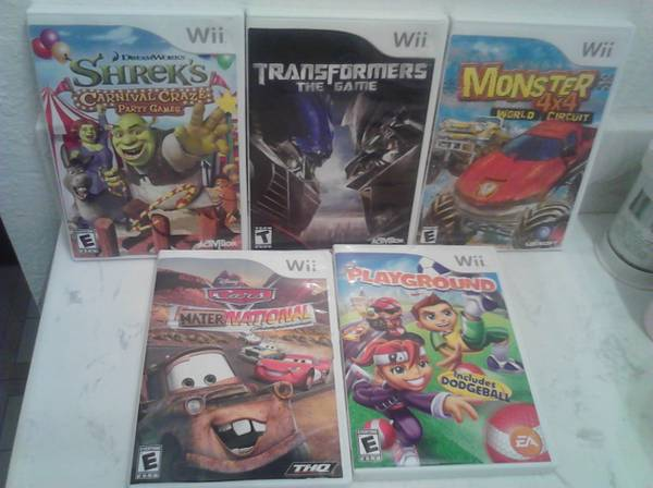 WII GAMES FOR SALE -   x0024 15  Los Fresnos