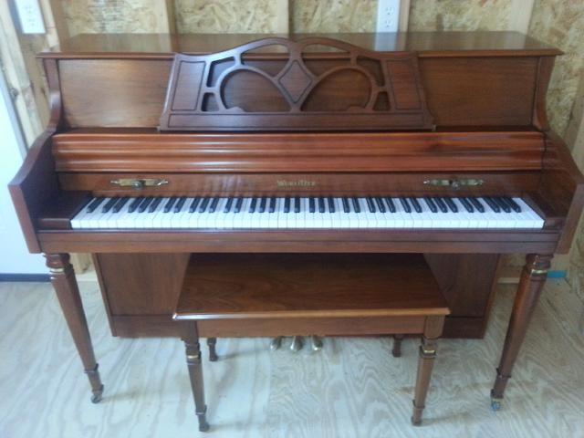 Wurlitzer Console Piano with Matching Bench