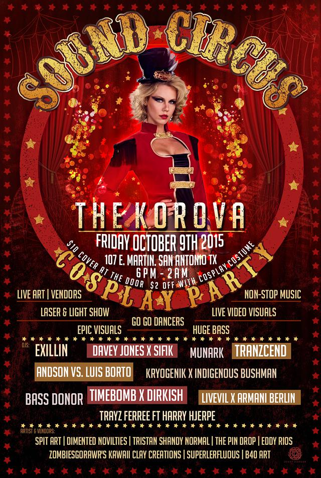 Sound Circus Cosplay Party - Friday Oct 9th The Korova 107 E  Martin