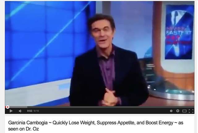 Seen on Dr  Oz to Lose Weight  FREE TRIAL of Garcinia Cambogia