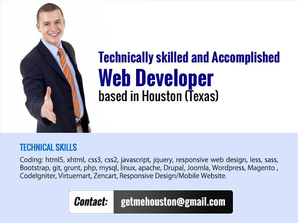 Web Designer and front-end Web Developer with over ten 8 years of professional experience