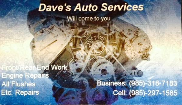 Dave s auto service  your location