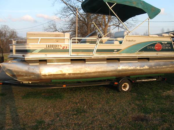 for sale  21ft  sun tracker party barge  -   x0024 6500  natchitoches