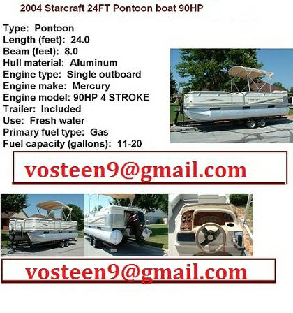 2004 Starcraft 24FT Pontoon boat 90HP MERC4STROKE - $2400