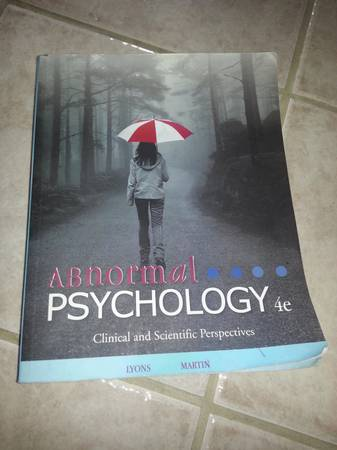 abnormal pscychology texbook -   x0024 40  Pineville