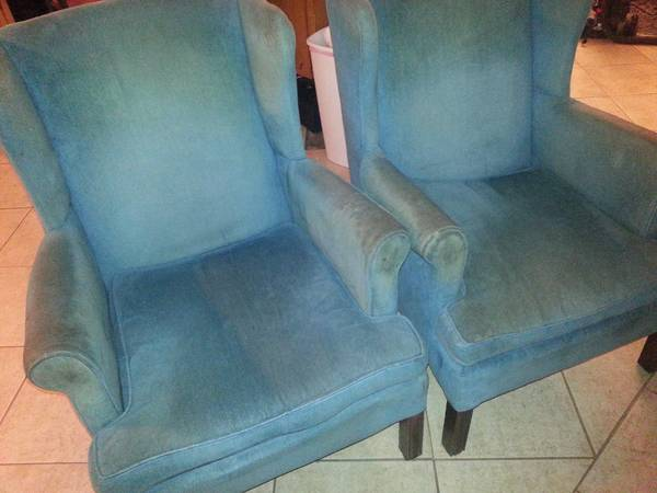curb alert for 2 wingback chairs FREE