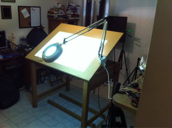 Drafting light table with magnifing cl light - $400 (Baton Rouge Area)