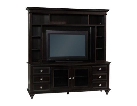 Nice dark wood entertainment stand hold up to a 55 inch LCD or led - $800 (Alexandria)