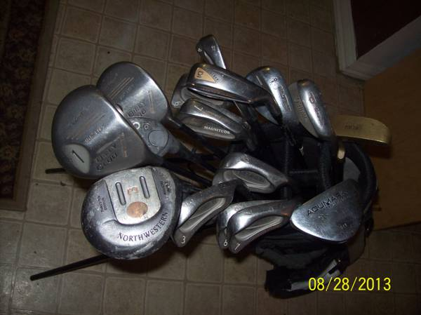 Assorted Golf Clubs, USED, 18 total - $100 (North Louisiana Area)