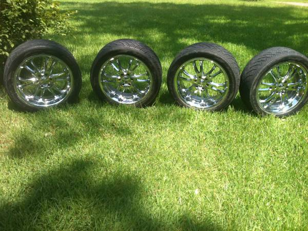 22 inch rims and tires-6 lug $1000 OBO - $1000 (Pineville)