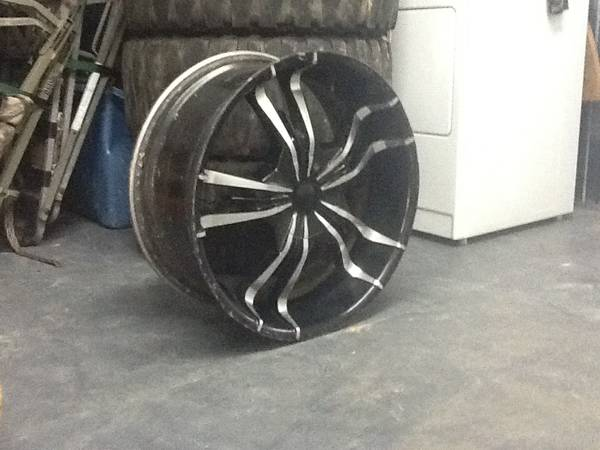 22 inch 6 lug universal rims and tires - $400 (Pineville)