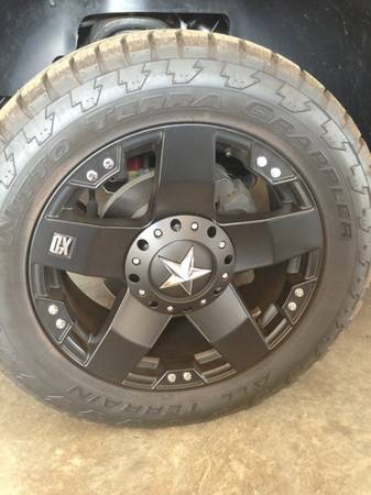 20 inch XD Rockstar rims and Nitto Terra Grappler tires - $1500 (Oak Grove)