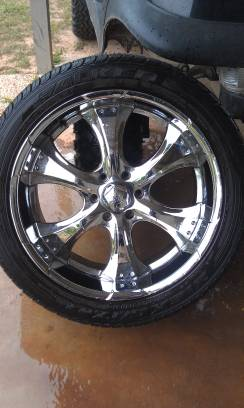 22 inch 6 lug Ford  wheels rims tires - $800 (cottonport)