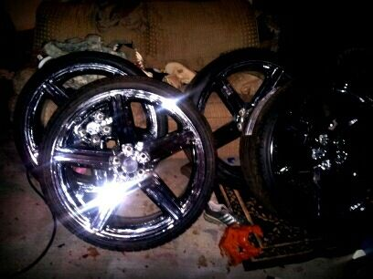 24 inch iroc wheels with new tires - $1800
