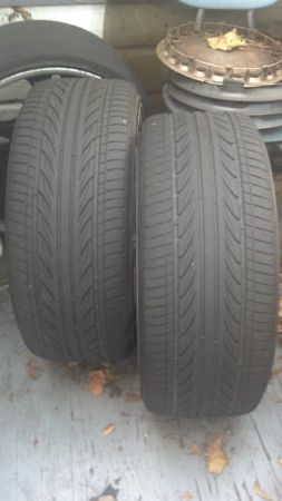 22 black inch rims with chrome - $600