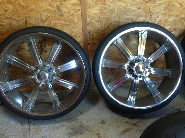 28 INCH RIMS AND TIRES FOR SALE 8 LUG - $1500 (ALEXANDRIA LA)