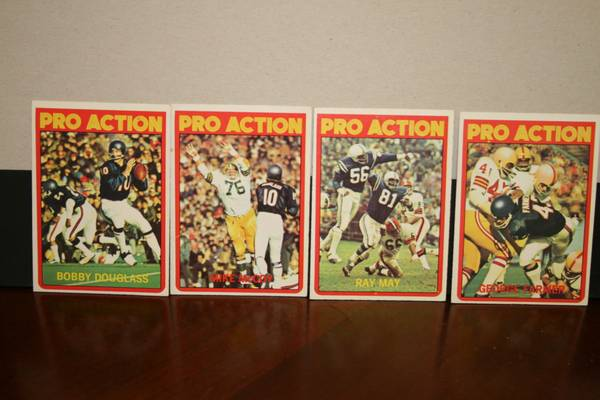 72 Topps Pro Action Cards -   x0024 7  347 W Tunica Dr