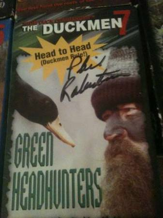 PHIL ROBERTSON AUTOGRAPHED VIDEO -   x0024 100  NATCHITOCHES