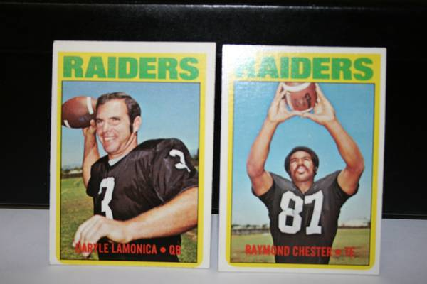 72 Topps Oakland Raiders football card -   x0024 6  347 W Tunica Dr