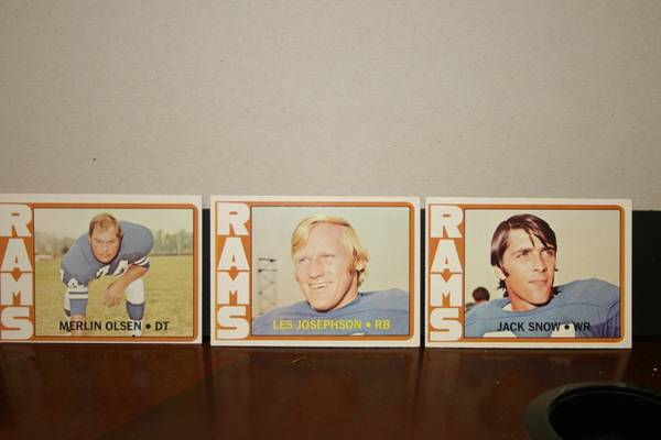 72 Topps Los Angeles Rams football cards -   x0024 11  347 W Tunica Dr