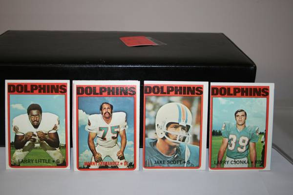 72 Topps Miami Dolphins football cards -   x0024 30  347 W Tunica Dr