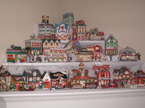 Christmas Coca-Cola Village Accessories - $400 (Alexandria, La.)