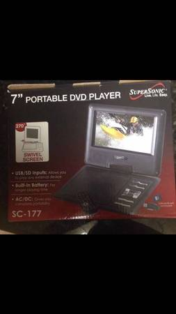 BRAND NEW  7  Portable DVD Player with Swivel Screen -   x0024 60  Alexandria