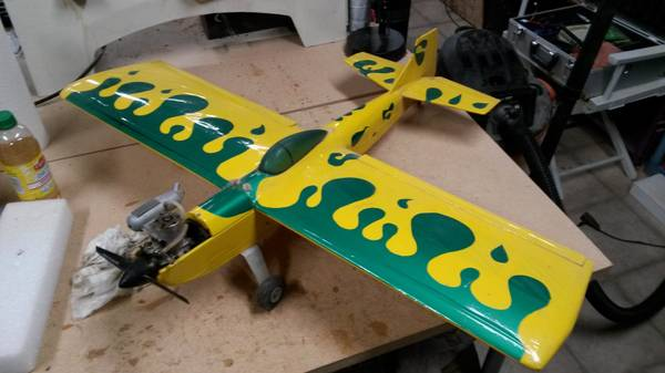 Yellow and Green RC Airplane -   x0024 50  Pineville