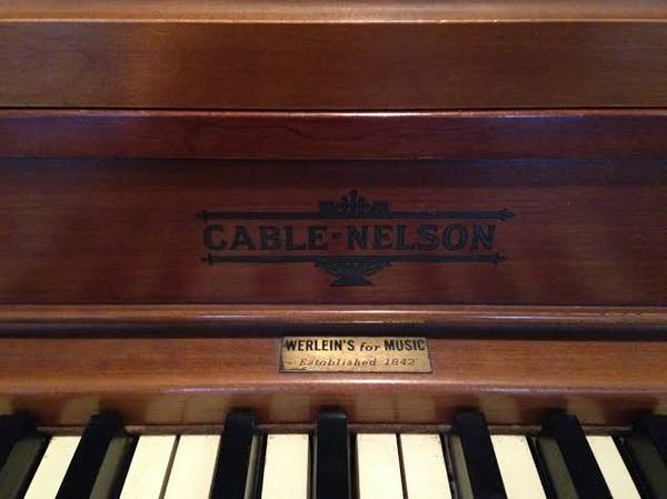 60 s Cable-Nelson Spinnet Piano -   x0024 800  Boyce