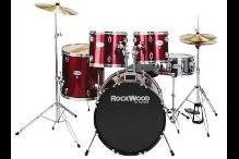 Rockwood 5-piece drum set. - $200 (Pineville)