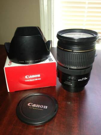 Canon EFS 17-55mm f2 8 IS USM LENS   CAPS   BOX   HOOD  Prairieville