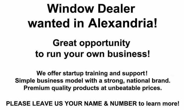 SALESPERSON DEALER for WINDOW CO   Alexandria