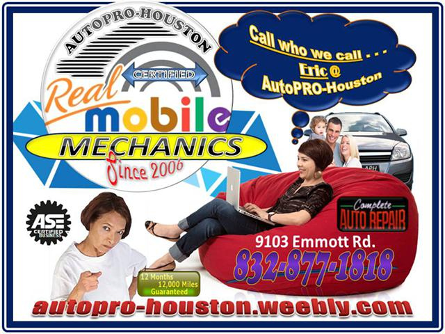 Professional Automotive Mobile Mechanics  AutoPRO-Houston 9103 Emmott Rd  77040