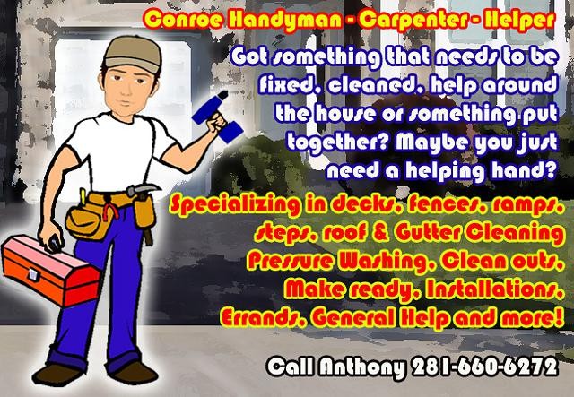 Handyman - Repair - DIY - Helper - Labor - Mover - Carpenter