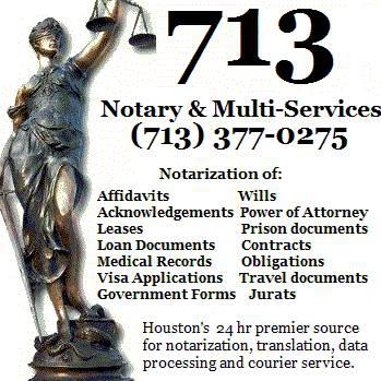 24 Hour Mobile Notary 713-377-0275