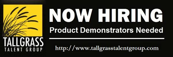 Product Demonstrators Wanted  Magnolia  Brenham