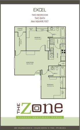 $525 866ftsup2 - 1br1ba for college station student - the zone (The Zone Apartments)