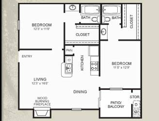 - $430 930ftsup2 - Roommate Needed in 2Bed2Bath (Zero Deposit) (Meadows Point Apartments)