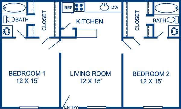 x0024 335   1br - 828ft sup2  - Immediate Subleasing apartment   335 month  502 Southwest Parkway